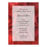 Invitación floral roja de la cena del ensayo invitación 12,7 x 17,8 cm