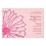 Invitación floral rosada bonita del boda