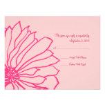 Invitación floral rosada bonita RSVP del boda