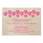 Invitación floral rosada del boda del vintage