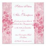 Invitación floral rosada del compromiso