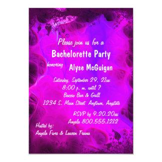 Invitación floral rosada del fiesta de