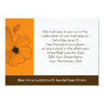 Invitación floral tropical del boda del oro y de