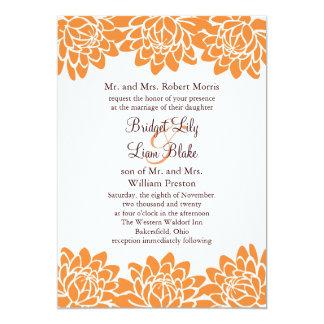 Invitación floral y moderna del boda invitación 12,7 x 17,8 cm
