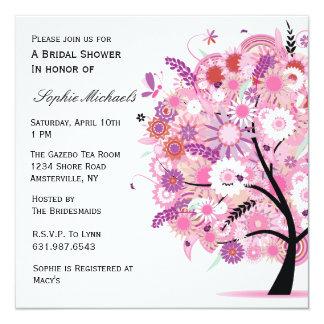 Invitación floreciente del árbol