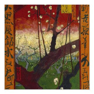 Invitación floreciente del árbol de ciruelo