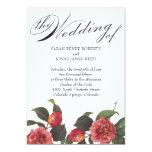 Invitación floreciente del boda