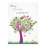 Invitación floreciente del embarazo del árbol