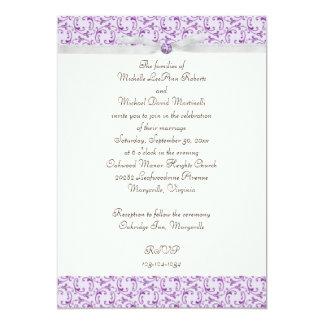Invitación florentina del boda de la lavanda