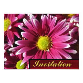 Invitación - flores rojas de la margarita invitación 16,5 x 22,2 cm