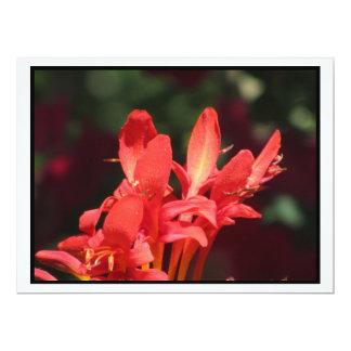 Invitación - flores rojas - multiusos invitación 16,5 x 22,2 cm