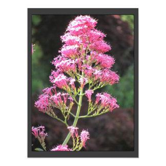 Invitación - flores rosadas - multiusos