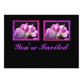 Invitación - flores Rosado-Púrpuras - multiusos Invitación 12,7 X 17,8 Cm