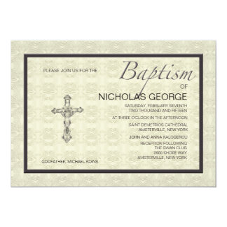 Invitación formal bautismal invitación 12,7 x 17,8 cm