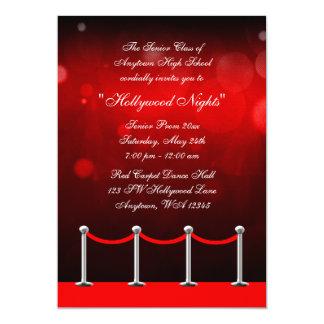 Invitación formal de la alfombra del baile de fin