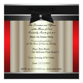 Invitación formal de la caridad del lazo negro