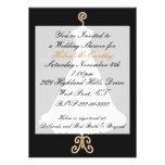 Invitación formal de la ducha del boda