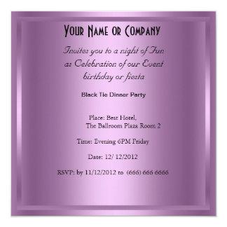 Invitación formal de la fiesta de cumpleaños del