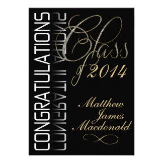 Invitación formal de la fiesta de graduación del e