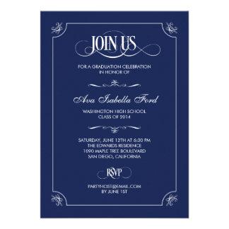 Invitación formal de la graduación de la elegancia