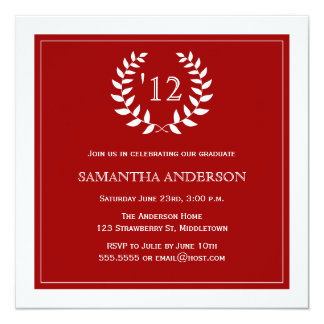 Invitación formal de la graduación del año de la