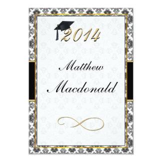 Invitación formal de la graduación del damasco