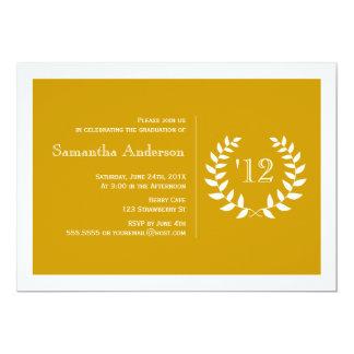 Invitación formal de la graduación del laurel -