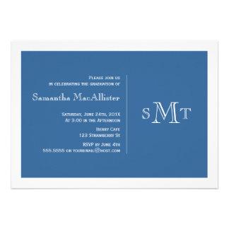 Invitación formal de la graduación del monograma -