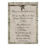 Invitación formal de Noche Vieja de la hoja de pla