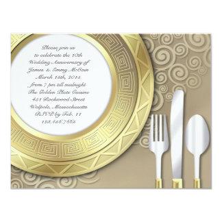 Invitación formal del aniversario/de la cena