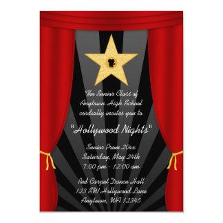 Invitación formal del baile de fin de curso rojo invitación 12,7 x 17,8 cm