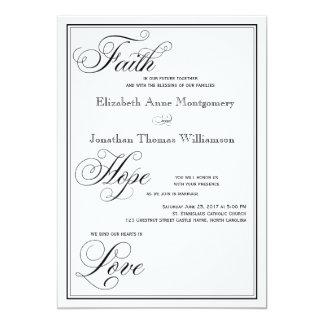 Invitación formal del boda de la escritura del
