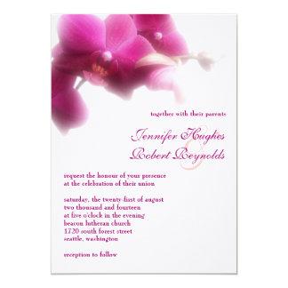 Invitación formal del boda de la orquídea