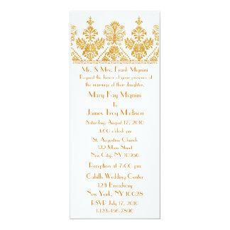 Invitación formal del boda del adorno del ajuste