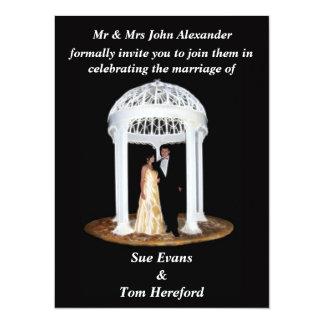 Invitación formal del boda negro