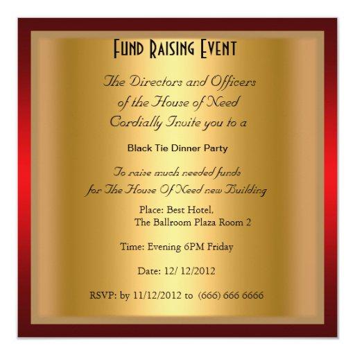 Invitación formal del fiesta de cena del lazo
