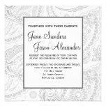 Invitación formal elegante del boda de Paisley