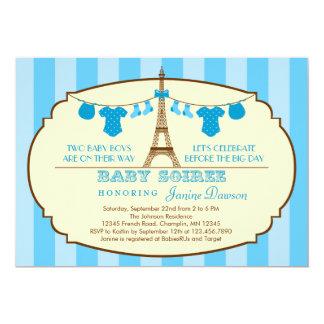 Invitación francesa de la fiesta de bienvenida al invitación 12,7 x 17,8 cm