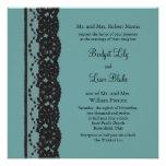 Invitación francesa del boda del cordón del trullo