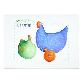 Invitación francesa del fiesta de gallina de las