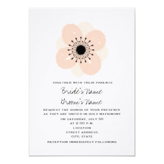 Invitación francesa rosada del boda de la anémona
