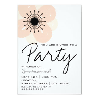Invitación francesa rosada del fiesta de la flor