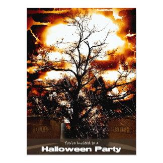 Invitación frecuentada de Halloween Invitación 16,5 X 22,2 Cm