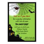 Invitación frecuentada del fiesta de Halloween Invitación 12,7 X 17,8 Cm