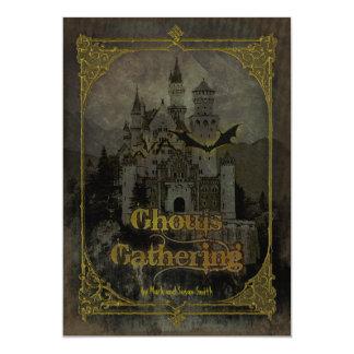 Invitación frecuentada del fiesta de Halloween del