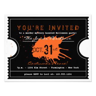 Invitación frecuentada del fiesta del boleto de Ha