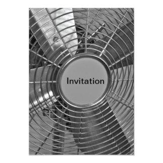 Invitación fresca de la fan del aire