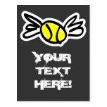 ¡Invitación fresca de la tarjeta del tenis personl Tarjeta Postal