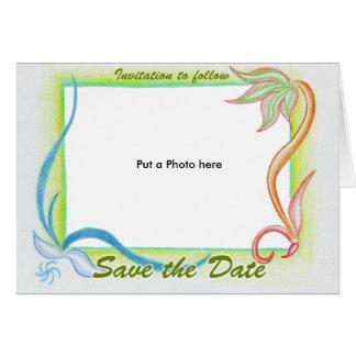 Invitación fresca del boda de la naturaleza tarjeton