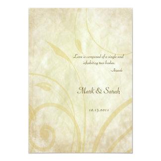 Invitación frondosa del boda del pergamino del invitación 12,7 x 17,8 cm